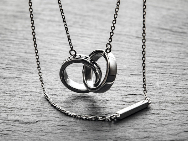 Our Double Ring Necklace Is Back With All New Design!