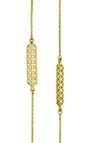 Flower Of Life Double Pendant Guardian Escapulario Yellow Gold Plated Necklace Jewelry On 925 Sterling Silver From Barcelona