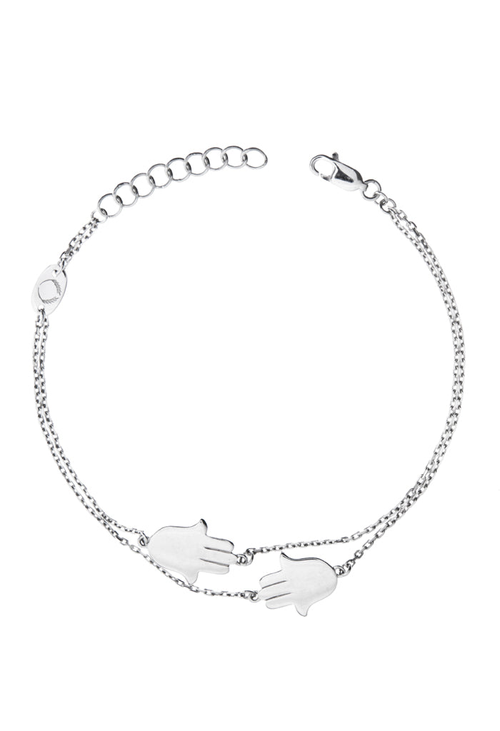 f1d098b61 Design 2 Hand Of Fatima Double Chain Bracelet 925 Sterling Silver Jewelry  Present From Barcelona Gay