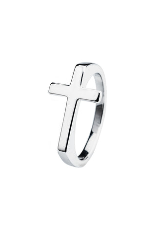 sterling silver ring with cross