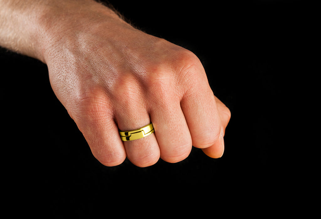 exceptional gold plated ring
