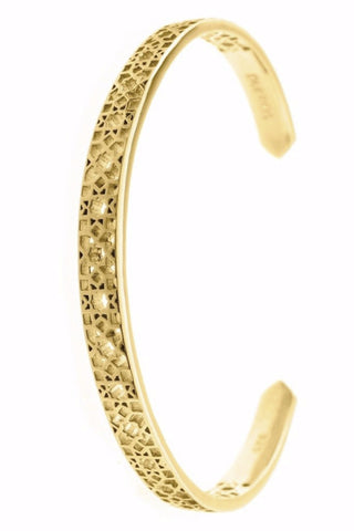 Design Mosaic Open Bangle Bracelet Yellow Gold Plated Jewelry From Barcelona Present Gay For Man Unisex
