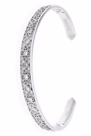 Design Mosaic Open Bangle Bracelet 925 Sterling Silver Jewelry From Barcelona Present Gay For Man Unisex
