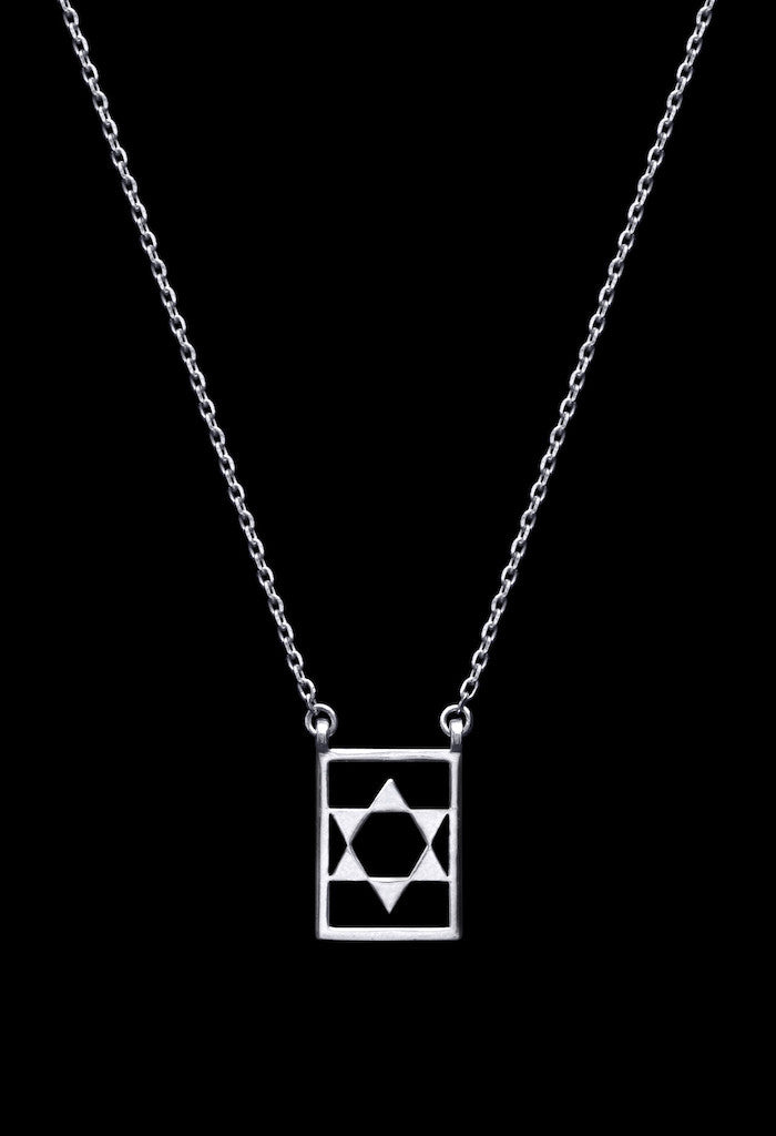 Design Star Of David Double Pendant Guardian Scapular Silver Necklace 925 Sterling Jewelry Present From Barcelona Protecting Talisman Escapulario Gay For Man Unisex 2