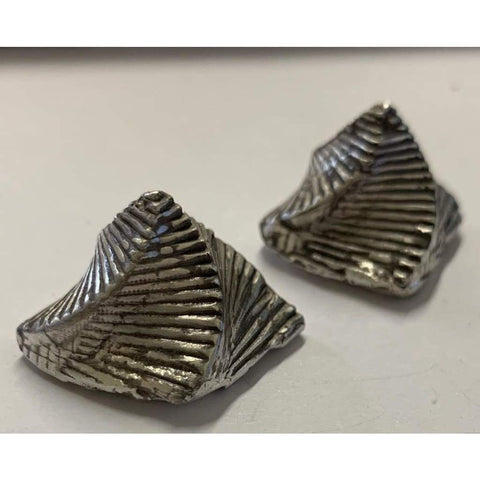 "1.5 Oz MK BarZ ""Stacked Antiqued Pyramid"" Swerving Hand Poured .999 FS - MK BARZ AND BULLION"