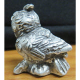 1.5 Troy Oz MK BarZ Little Owl Statue 3D Sand Cast .999 FS