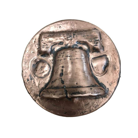 "1 KILO ""Liberty Bell"" LIMITED EDITION Hand Poured .999 Copper - MK BARZ AND BULLION"