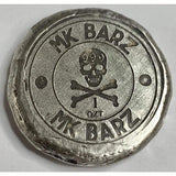 "1 Oz  MK BarZ ""Beware of the Sea Demon"" Stamped Round .999 Fine Silver - MK BARZ AND BULLION"