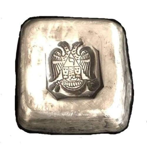 1 Troy Oz. Double Headed Eagle Stamped Cube .999 Fine Silver