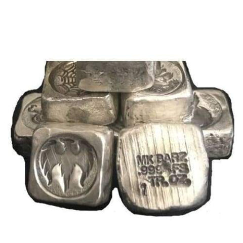 1 Troy Oz. Flying Phoenix Stamped Cube .999 Fine Silver