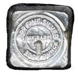 "1 Troy Oz. ""MK BarZ Logo"" Circle Stamped Cube .999 Fine Silver - MK BARZ AND BULLION"