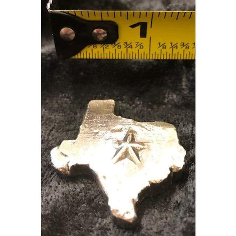 "1 Troy Oz MK BarZ ""Texas Star"" .999 Fine Silver Hand Poured - MK BARZ AND BULLION"