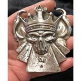 "10 oz  MK BarZ ""Skull King of Cards"" LTD to 500 Sand Cast Relief .999FS - MK BARZ AND BULLION"