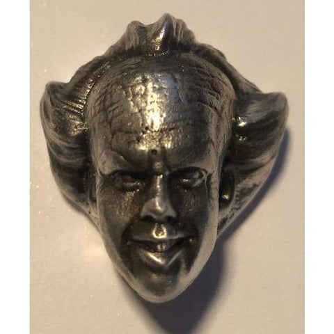 2.5 Troy Oz. MK BarZ Creepy IT Clown Hand Poured .999 Fine Silver