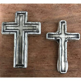 "2 Troy oz MK BarZ ""DIVINE CROSS"" Hand Poured .999 fine silver - MK BARZ AND BULLION"