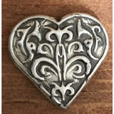"2 Troy Oz MK BarZ  ""Victorian Heart"" Heart Shaped Hand Poured Bar .999FS - MK BARZ AND BULLION"