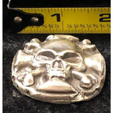 "3 Oz  MK BarZ ""Death & Destruction Medal"" Hand Poured Skull .999 FS - MK BARZ AND BULLION"
