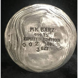 "3 oz  MK BarZ ""Winners Circle""-Race Horse Hand Poured LTD Round  .999FS - MK BARZ AND BULLION"