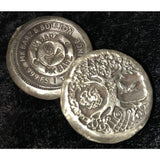 3 Troy Oz MK BarZ Owl of Death Hand Poured .999FS - silver bullion