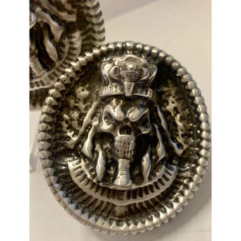 "4 ozt. MK BarZ  ""PHARAOH OF DEATH"" Sand Cast .999 FINE SILVER - MK BARZ AND BULLION"