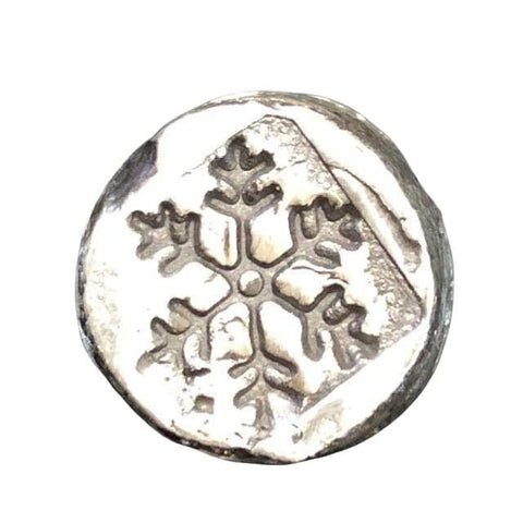 ".5 oz  MK BarZ ""Mini Chunk Round-Snow Flake"" Hand Poured Bar .999FS - MK BARZ AND BULLION"