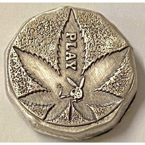 ".5 Ozt MK BarZ ""Reefer Play""-Fractional Round Stamped .999 Fine Silver - MK BARZ AND BULLION"