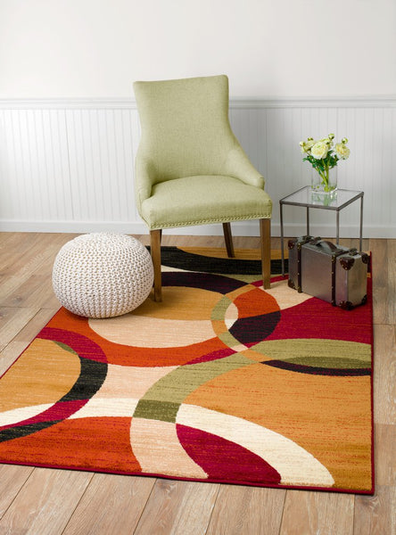 2011 Beige Geometric Contemporary Area Rugs