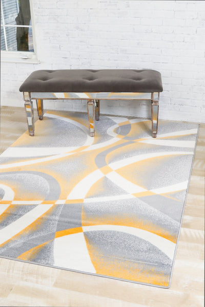 2035 Mango | Gray Mango Contemporary Area Rugs