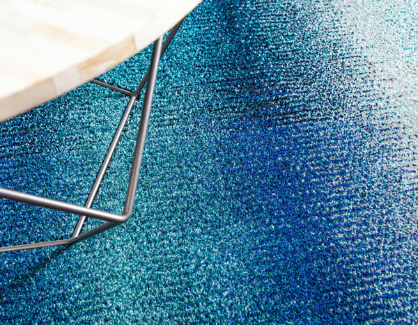 9987 Blue Ombre Contemporary Area Rugs