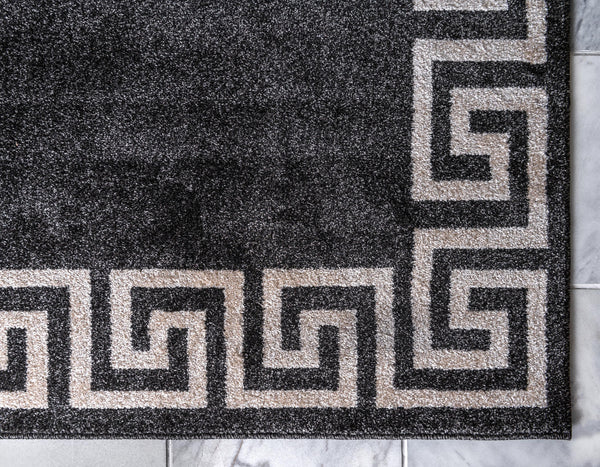 9964 Black Athens Contemporary Area Rugs