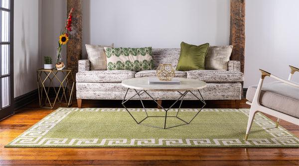 9964 Light Green Athens Contemporary Area Rugs