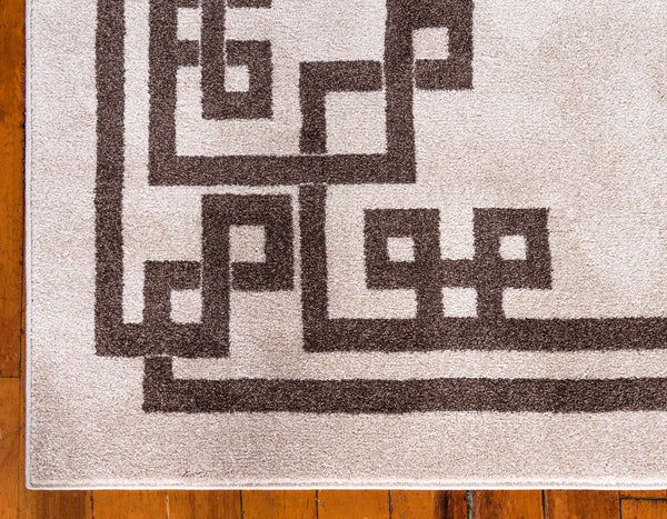 9953 Beige Brown Greek Contemporary Area Rugs
