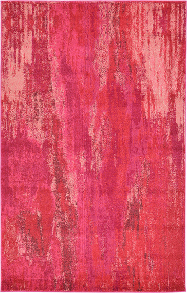 9960 Pink Contemporary Area Rugs