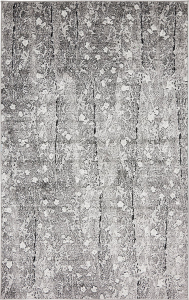 9723 Gray Abstract Contemporary Area Rugs