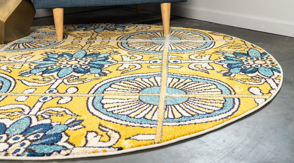 9973 Gold Medallion Contemporary Area Rugs