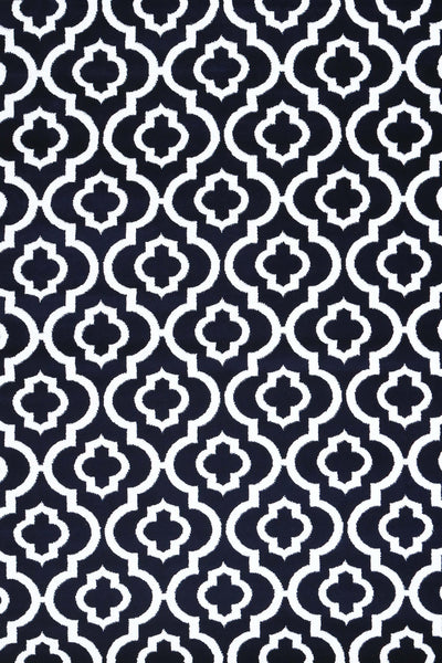 Navy Blue Moroccan Trellis Affordable Area Rugs