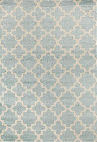 Blue Moroccan Trellis Soft Plush Area Rugs