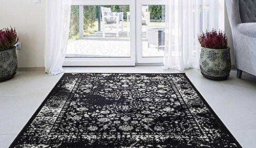 6945 Black Distressed Oriental Area Rugs