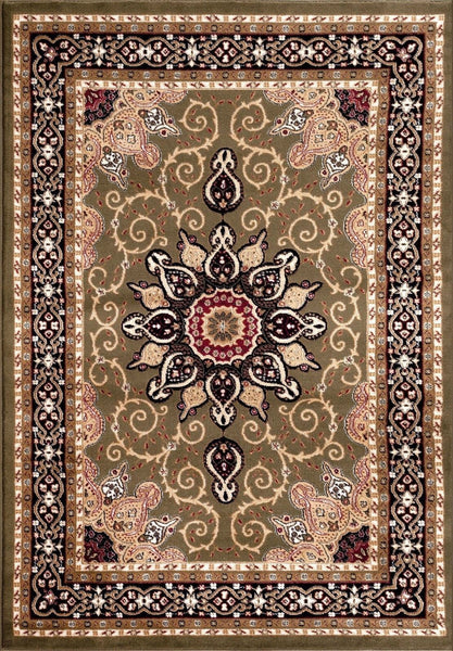 Persian-Rugs Green Isfahan Medallion Oriental Area Rugs