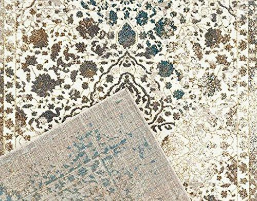 6945 Ivory Distressed Oriental Area Rugs