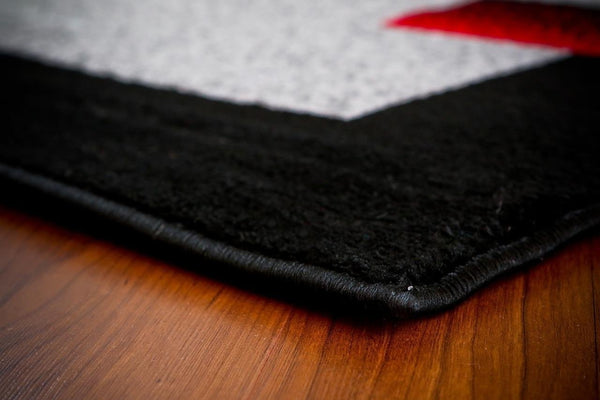 Gray Black Red Contemporary Area Rugs
