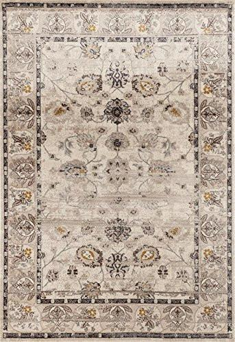 1936 Ivory Distressed Oriental Area Rugs