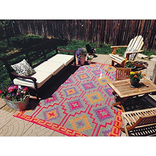 7102 Orange 100% Recycled Outdoor Area Rugs