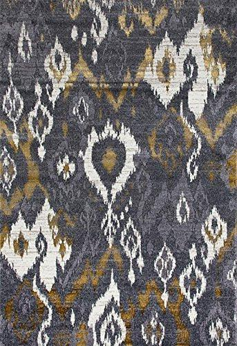 2160 Gray | Gray Abstract Contemporary Area Rugs