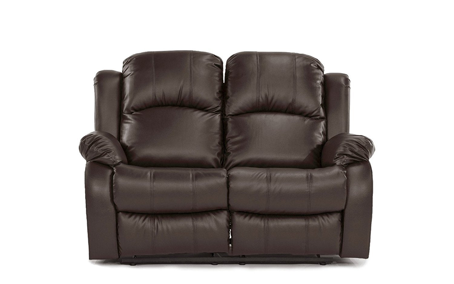 Attirant New Century® Brown Bonded Faux Leather 2 Seater Recliner Chair