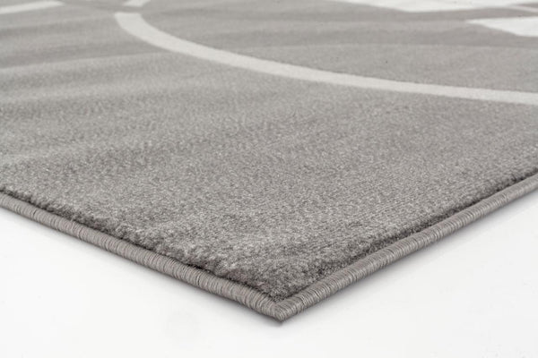 Gray Circle Contemporary Area Rugs