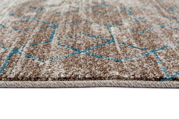 4548 Beige Moroccan Trellis Contemporary Area Rugs