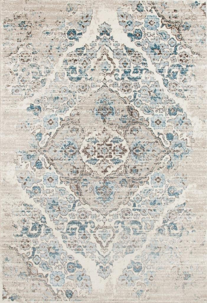 Ivory Distressed Rug Oriental Vintage Carpet Discount