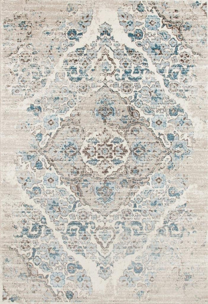 2046 Ivory Distressed Oriental Area Rugs