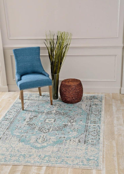 1871 Blue Distressed Oriental Area Rugs